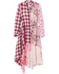 Anjuna - Asymmetric Paneled Broderie Anglaise Cotton-blend Dress - Lyst