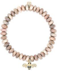 Sydney Evan Bee 14-karat Gold Multi-stone Bracelet - Metallic