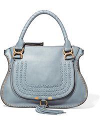 Chloé | Marcie Medium Textured-leather Tote | Lyst