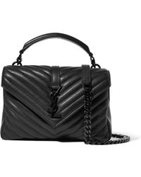 8921f81892a5 Saint Laurent - College Medium Quilted Leather Shoulder Bag - Lyst