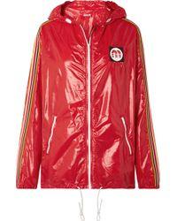 Miu Miu - Hooded Webbing-trimmed Shell Jacket - Lyst