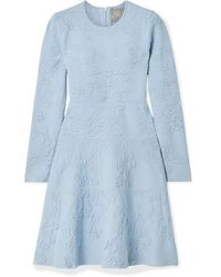 Lela Rose Robe En Mailles Texturées - Bleu