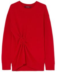 Sies Marjan - Brynn Gathered Ribbed Cashmere Sweater - Lyst