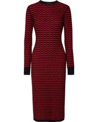 Marc Jacobs - Striped Merino Wool Midi Dress - Lyst