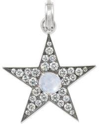 Sylva & Cie - 18-karat White Gold, Sapphire And Diamond Pendant White Gold One Size - Lyst