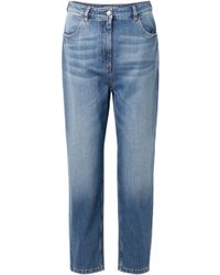 Prada - Cropped High-rise Jeans - Lyst