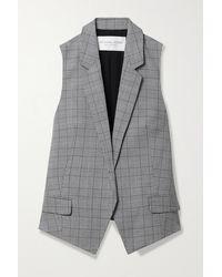 Michael Kors Antibes Checked Wool Vest - Gray