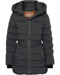 Burberry - Belted Quilted Shell Down Coat - Lyst