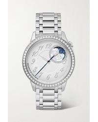 Vacheron Constantin Egérie Automatic Moon-phase 37mm Stainless Steel And Diamond Watch - Metallic
