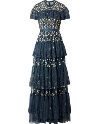 Needle & Thread - Tiered Embellished Tulle Gown - Lyst