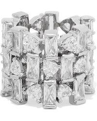 Kenneth Jay Lane - Silver-tone Cubic Zirconia Ring - Lyst
