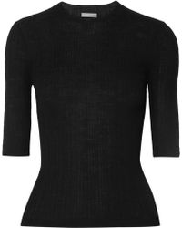 Vince - Ribbed Wool Top - Lyst