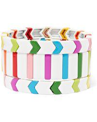 Roxanne Assoulin - Fresh Start Set Of Three Enamel Bracelets - Lyst