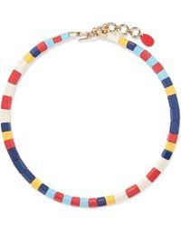 Roxanne Assoulin Regatta Enamel Necklace - Blue