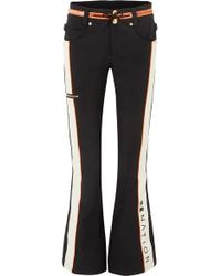 P.E Nation + Dc Viva Striped Flared Ski Pants - Black