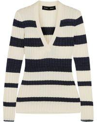 Proenza Schouler - Striped Ribbed Wool-blend Sweater - Lyst