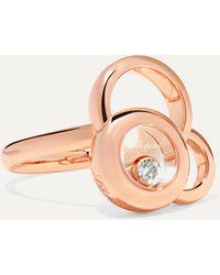 Chopard Happy Dreams 18-karat Rose Gold Diamond Ring - Metallic