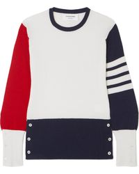 Thom Browne - Color-block Cashmere Sweater - Lyst