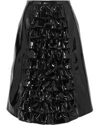 Christopher Kane - Ruffled Patent-leather Skirt - Lyst