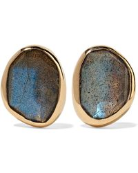 Melissa Joy Manning - 14-karat Gold, Sterling Silver And Labradorite Earrings - Lyst