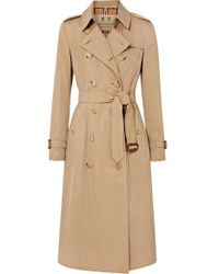 Burberry Trench-coat En Gabardine De Coton The Chelsea - Neutre