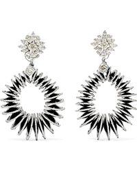 Amrapali - 18-karat White Gold, Diamond And Bakelite Earrings - Lyst