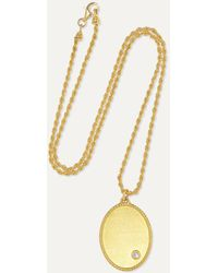 Yvonne Léon 18-karat Gold Diamond Necklace - Metallic