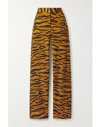 Adam Lippes Pantalon Large En Jersey Stretch À Imprimé Tigre - Multicolore
