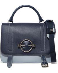 88106ecd4199 Lyst - Miu Miu Two-tone Quilted And Matelassé Leather Shoulder Bag ...