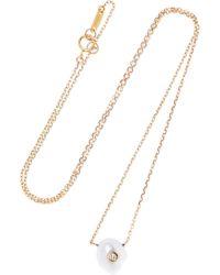 Mizuki - 14-karat Gold, Pearl And Diamond Necklace - Lyst
