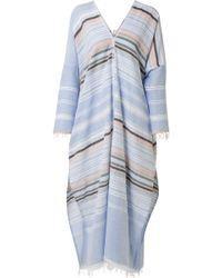 Lemlem | Kal Fringed Striped Cotton-blend Gauze Kaftan | Lyst
