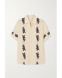 Matteau + Net Sustain Printed Silk Shirt - Natural