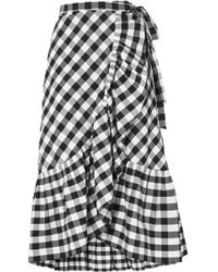J.Crew | Glo Ruffled Gingham Cotton-poplin Wrap Skirt | Lyst