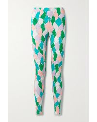 Emilio Pucci + Net Sustain Leggings Aus Recyceltem Stretch-material Mit Print - Grün