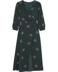 Madewell - Wild Botanic Wrap-effect Floral-print Chiffon Maxi Dress - Lyst