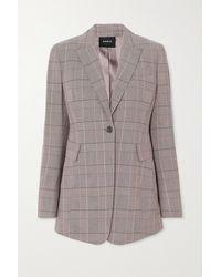 Akris Gash Checked Wool Blazer - Grey