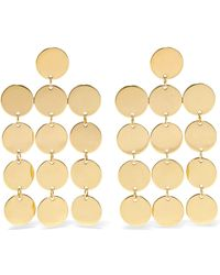 Saskia Diez - Paillettes Chandelier 18-karat Gold-plated Earrings - Lyst