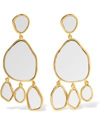 Aurelie Bidermann - Ciottolo Gold-plated Mirror Clip Earrings - Lyst