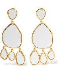 Aurelie Bidermann - Ciottolo Gold-plated Mirror Clip Earrings - Lyst