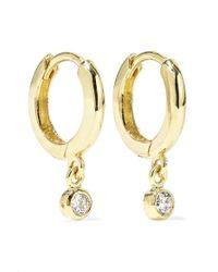 Jennifer Meyer Huggies Creolen Aus 18 Karat Gold Mit Diamanten - Mettallic