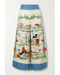Gucci Disney X Silk Pyjama Pants - White