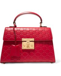 Gucci - Padlock Small Embossed Leather Tote - Lyst