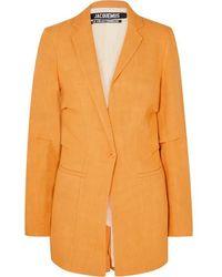 Jacquemus Bergamo Canvas Blazer - Orange