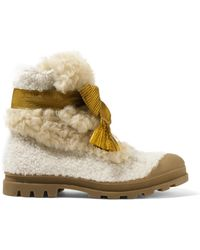 Chloé - Parker Shearling Ankle Boots - Lyst