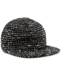 Eugenia Kim - Darien Metallic Cotton-blend Tweed Baseball Cap - Lyst