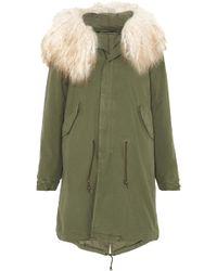 Mr & Mrs Italy - Oversized Shearling-trimmed Cotton-canvas Parka - Lyst