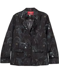 F.R.S For Restless Sleepers - Ade Printed Silk-twill Pajama Shirt - Lyst