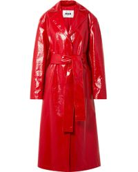 MSGM - Belted Trench Coat - Lyst