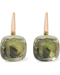 Pomellato - Nudo Classic 18-karat Rose Gold Prasiolite Earrings - Lyst