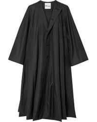 Noir Kei Ninomiya Oversized Taffeta Coat - Black